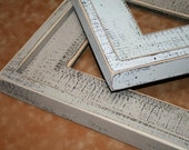 """Chunky Shabby Picture Frame 8.5x11 Or 8x12 """"Chunk-a-Licious"""" Distressed wood Picture Photo Frame 3"""" Choose from 63 Colors"""