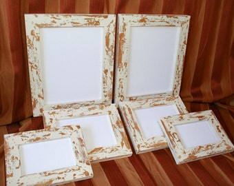 "Picture FRAME PACKAGE 6 frames total in our ""Cape Cod"" style 2)8x10's 2)5x7's and 2)4x6's Choose COLORS Great for Family or Wedding images"