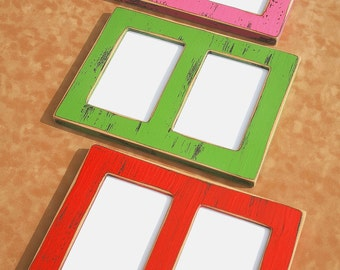 2 Multi opening picture frames to fit 2) 5x7's or 4x6's Collage multiple opening picture frames Frame package