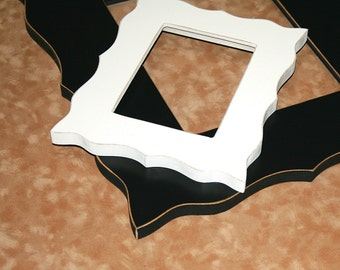 """UNFINISHED Chunky Whimsical picture frame 20x30  """"Whimsical Expressions"""" Picture Photo frame"""