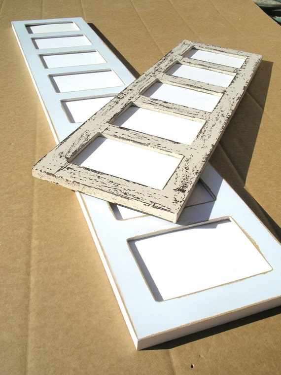 8 5x7 Or 4x6 Multi Opening Collage Photo Picture Frame Shabby