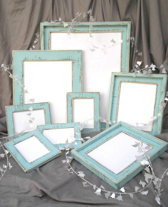 Wedding Picture Frame Package set  8) Picture frames CHOOSE FROM 63 COLORS 1-16x20,1-11x14,2-8x10,4-5x7