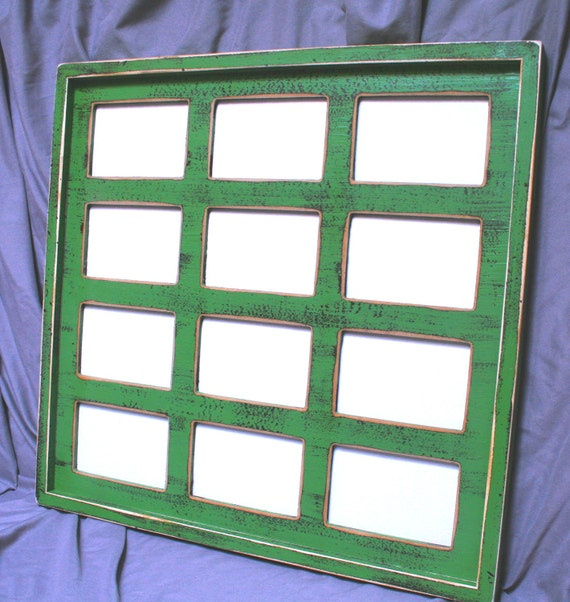 12 multi opening picture frame 4x4 5x5 5x7 or 4x6 first year frame
