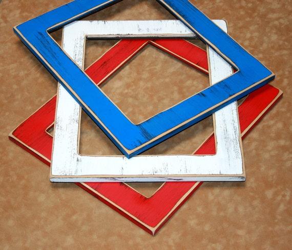 Barnwood distressed picture frames 3) Three Frames 10x10 OR 12x12 OR 11x14 picture frames 2.25 in. wide ( 63 COLORS) Colored Barnwood style