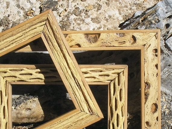 11x14 Saguaro Rib or Cholla Style Cactus Rustic Western Picture frame with Glass 1 inch  Wide