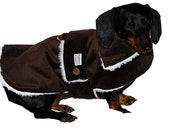 Brown Seude Ultra  coat lined with Sherling