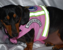 Pink Service Harness Vest Medical Alert Dog Others can be made on request