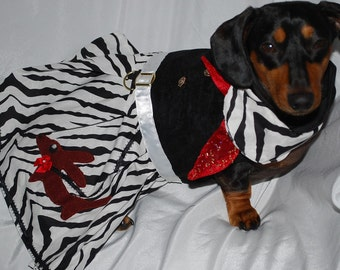 The zebra Doxie Skirt