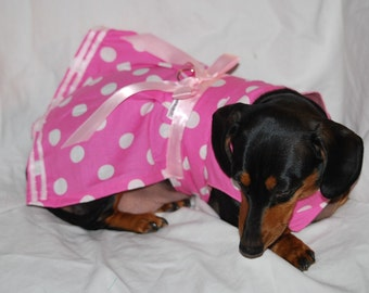 Pretty in Pink Polka Dots  harness dress