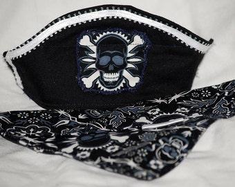 Boys Black Pirate hat and Bandana