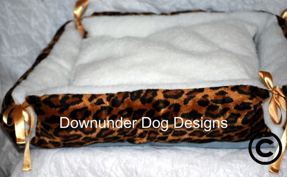 Animal print Dog Beds 20 by 20 inch