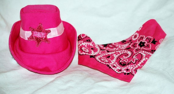 Girls Pink Cowgirl hat and Bandana
