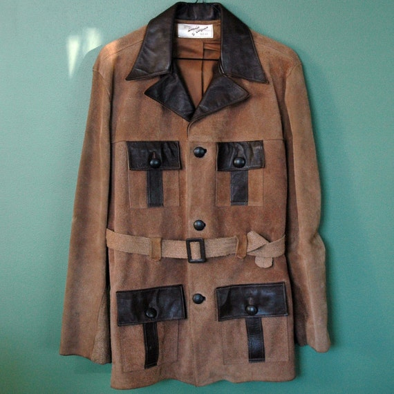 Vintage BROWN SUEDE Mens 1970's Jacket styled by Lomeli of California