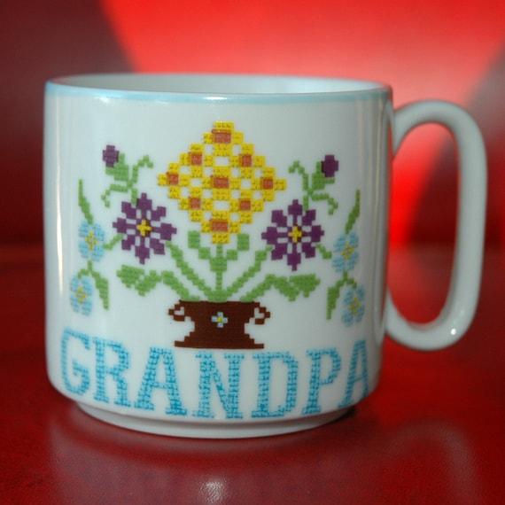 Vintage Grandpa Coffee Mug - Stitched Design