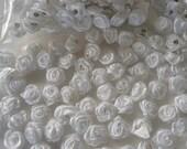 20 mini satin ribbon roses appliques embellishments EM-135