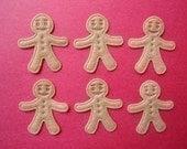 10 embossed felt gingerbread men appliques embellishments EM-04