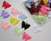 CLEARANCE 20 Embossed Flat Satin Butterfly Applique Embellishment EM-49
