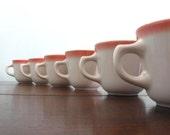 EIGHT Homer Laughlin Pink Diner Mugs
