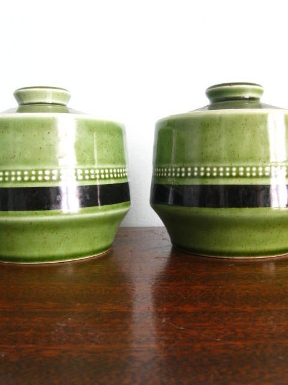 Vintage Fuji-stone Moss Antigua Sugar Bowls
