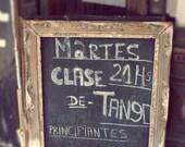 Tango, Buenos, Aires Argentina, photo, print, black, gold, travel, romance, chalkboard, fine art photograph