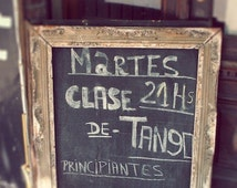 Tango, Buenos, Aires Argentina, photo, print, black, gold, travel, romance, chalkboard, fine art photograph