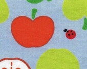 Bright Colorful Apples in Blue - Cotton - Full Yard Sale- EK-QS32601C