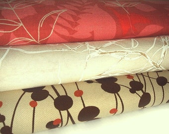 One Yard Bundle of 3 - Save - Cotton Textrured Fabric