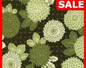 Clearance -- 115 cm x 110 cm -- Blossom Peony in Green Combo -- EK-QS27101A