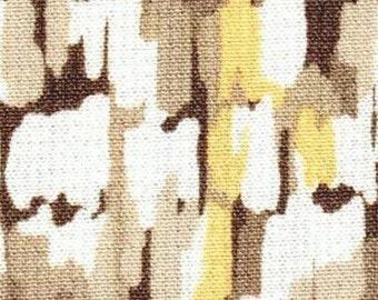 SALE  - Honeycomb Look Yellow/Brown  -  Woven Print   - EK-QS12003