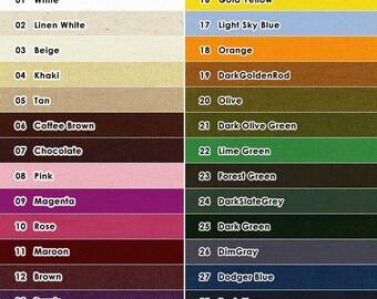 Solid Color Canvas - Cotton - By the Yard - 91cm x 150cm - EK-QS38128