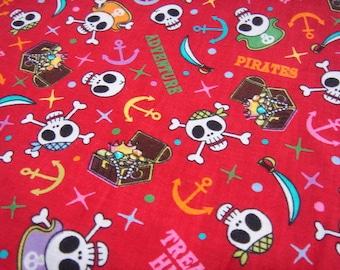 Sale -- Amusing Pirates Skull in Red -- EK-QS38243B