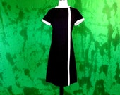 Rare Larger Size Mad Men 1960s Secretary Dress