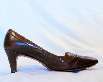 Shoes 1960s Pumps Brown 8M