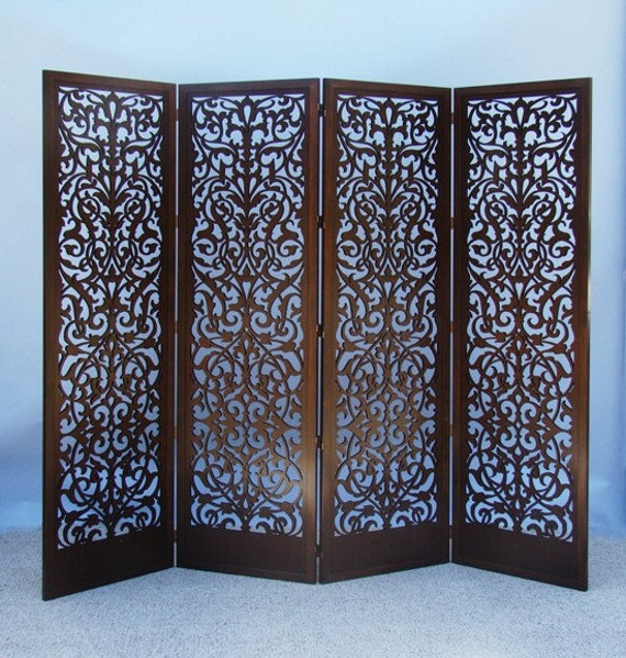 Items Similar To Laser Cut Wood Room Divider Screen On Etsy