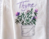 Custom Hand Embroidered Kitchen Towel for Ellee