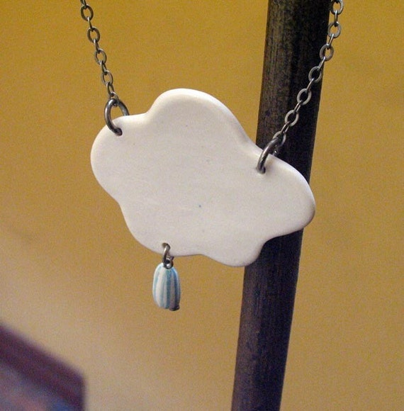 Cloud porcelain pendant