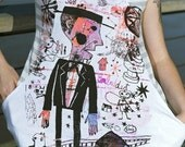 graffiti tshirt MEN in BLACK size S/M/L