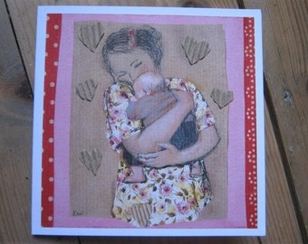 Maternity...New baby or mother's day collage card