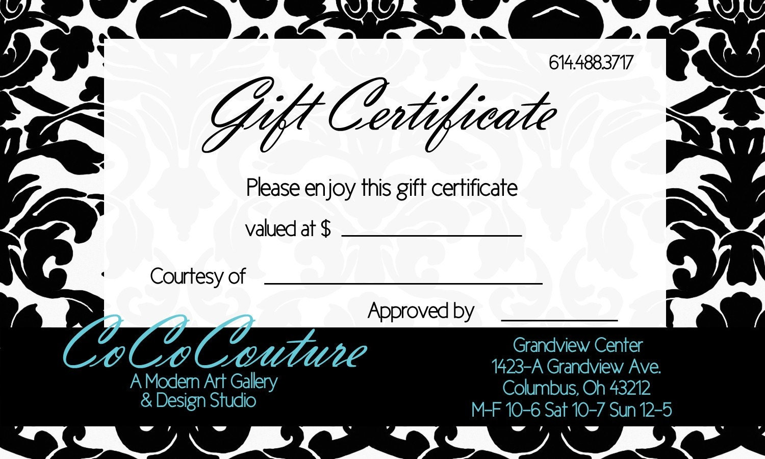 damask gift certificate template damask gift certificate template 128270zoom
