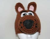 child size dog hat - Unique handmade winter hat made to look like a brown dog - Currently made to order