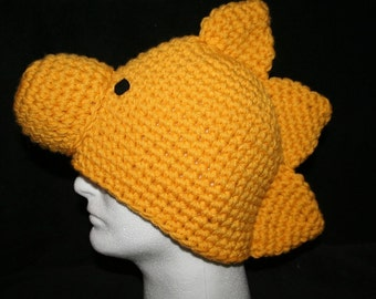 Handmade character hat little golden bird inspired by Woodstock - Teen to adult size - Very unique winter hat