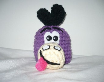 Purple dinosaur hat for baby - cute fun and unique