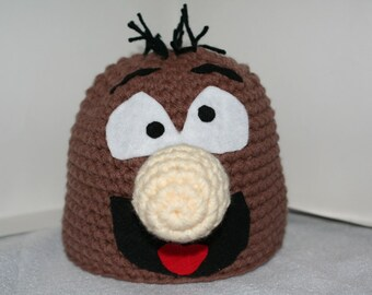 Unique handmade crochet character hat - fun and unique completely custom