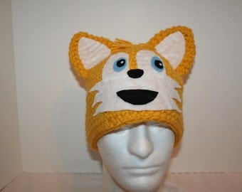 Fun fox character hat - A one of a kind winter hat - unique and cute