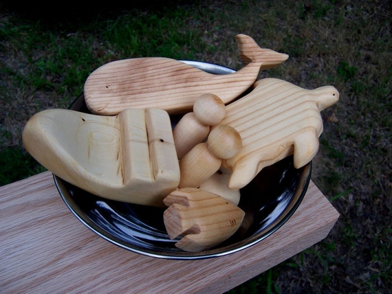 Natural Bathtub Toys Gift Set