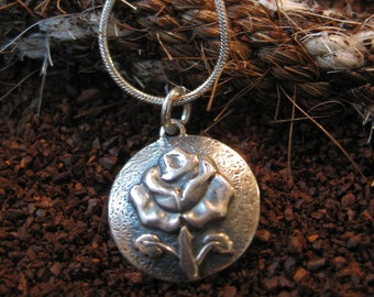 Sterling Silver Rose Concho Necklace
