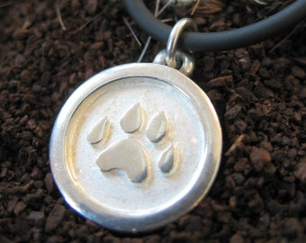 Sterling Silver Silver Paw Pendant