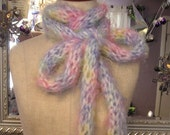 Perfectly Plush Pastel FINGER Knit Skinny Scarf