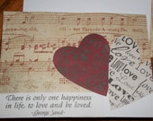 Valentine's day love and music Card