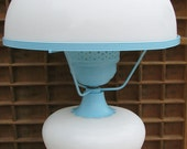 Vintage Milk Glass Boudoir Lamp